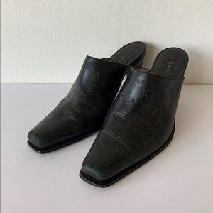 Antonio Melani Vintage Leather Mule Heel